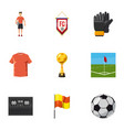 football icons set cartoon style vector image