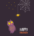 for halloween card invitation vector image vector image