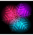 Glowing colorful snowflake vector image