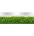 grass frame transparent background vector image vector image