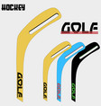 hockey stick golf vector image vector image