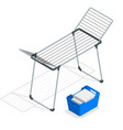 isometric empty cloth drying rack and laundry vector image vector image
