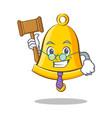 judge school bell character cartoon