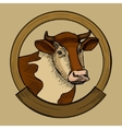 Label for cow meat sketch style vector image vector image