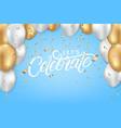 lets celebrate festive template vector image