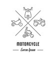 line banner motorcycle vector image