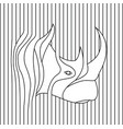 line drawing of rhino head vector image vector image