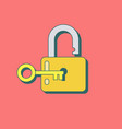 lock open in flat style vector image