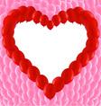 Love Heart Shaped Frame vector image