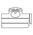 monkey coloring headband vector image