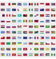 New flags of the world set vector image