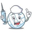 nurse volley ball character cartoon vector image vector image