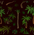 palm collection pattern vector image vector image