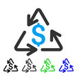 recycling cost flat icon vector image vector image