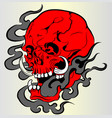 red skull vector image vector image