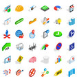 resolve icons set isometric style vector image vector image