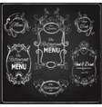 Restaurant labels chalkboard vector image