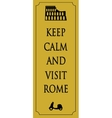 Rome travel card vector image