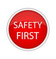 safety first icon vector image vector image