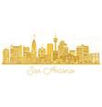 san antonio texas usa city skyline silhouette vector image vector image
