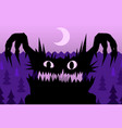 scare night monster vector image vector image