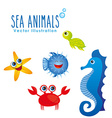 sea animals design vector image