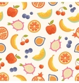 seamless summer fruits background vector image vector image