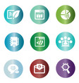 seo icons in colorful circle vector image vector image