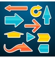 set glossy arrows stickers vector image