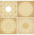 Set of 4 round lace ornamental backgrounds vector image vector image