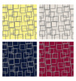 set of seamless squares pattern vector image vector image