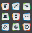 set simple battle icons vector image vector image