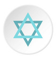 star of david icon circle vector image vector image