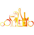 still life with bottles vector image