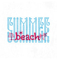 summer beach retro sign badge banner template vector image vector image