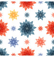 tablecloth with red and blue flowers vector image