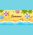 tropical summer beach top view vector image