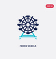 two color ferris wheels icon from business vector image