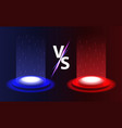 versus vs background realistic radiant magic vector image