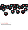 vinyl records falling musical background vector image