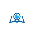 vision book logo icon design vector image