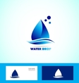 Water drop droplet logo icon set vector image