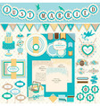 wedding scrapbooking vector image vector image