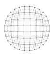 Wireframe mesh a gray circle vector image vector image