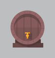wooden beer barrel icon oktoberfest festival vector image vector image