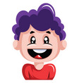 young boy is very excited on white background vector image