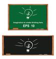 Lamp on blackboardGenerate ideas and imagination vector image