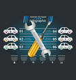 recovery and repair car business infographics vector image