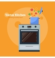 stove with a pan vector image