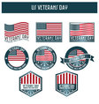 US veterans day vector image